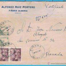Sellos: FIÑANA (ALMERIA) A GRANADA EDIFIL 819 (2) - 923. Lote 47718109