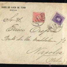 Sellos: ESPAÑA PRECIOSO SOBRE 1907 SEVILLA ALFONSO XIII TIPO CADETE 10 Y 15 CTS. Lote 47923801