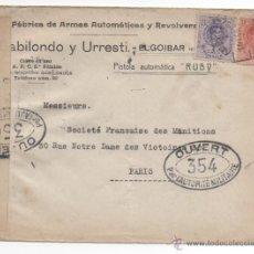 Sellos: CARTA PUBLICIATARIA, ELGOIBAR MATASELLO AMBULANTE Y CENSURA.. Lote 48340265