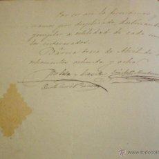 Sellos: 1888 BARCELONA SELLO DE PAPEL IGLESIA SANTA MARIA DEL MAR DOCUMENTO MANUSCRITO REDENCION DE CENSO . Lote 49046369