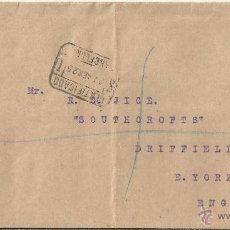 Sellos: BARCELONA CC CERTIFICADA SELLOS ALFONSO XIII VAQUER 40 CTS X 2 MAT SERVICIO INTERNACIONAL 1925. Lote 49056251