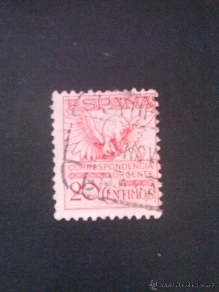 EDIFIL 592A PEGASO DENTADO 11 1/4 , CON CIFRA CONTROL AL DORSO, USADO MUY LIMPIO (Sellos - España - Alfonso XIII de 1.886 a 1.931 - Usados)