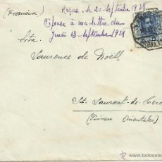 Sellos: ALFONSO XIII CC CON MAT AMBULANTE BARCELONA EXP 1925 AL DORSO LLEGADA. Lote 50394377