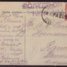 Sellos: ESPAÑA. (CAT. 243). 1908. T.P. DE VIGO A DINAMARCA. 10 CTS. MAT. PAQUETE Y POSTED ON THE/HIGH SEAS.. Lote 50618549