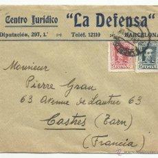 Sellos: CIRCULADA DE BARCELONA A CASTRES FRANCIA VER FOTO. Lote 50988843