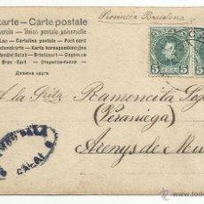 Sellos: TARJETA POSTAL CIRCULADA 1904 DE CALAF A ARENYS DE MUNT BARCELONA VER FOTO. Lote 50988908