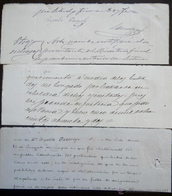 Sellos: TRES SELLOS CLASICOS FISCALES 1891, 1892 Y 1892. ANTIGUOS SELLOS FISCALES TIMBROLOGIA FILATELIA FISC - Foto 2 - 51390089
