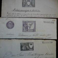 Sellos: TRES SELLOS CLASICOS FISCALES 1892, 1902 Y 1903. ANTIGUOS SELLOS FISCALES TIMBROLOGIA FILATELIA FISC. Lote 51390168