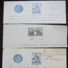 Sellos: CUATRO SELLOS CLASICOS FISCALES 1904-1919. ANTIGUOS SELLOS FISCALES TIMBROLOGIA FILATELIA FISC. Lote 51390269