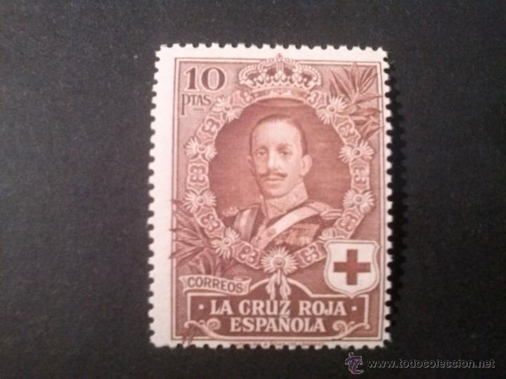 EDIFIL 337 ** 10 PTS CRUZ ROJA , GOMA ORIGINAL SIN CHARNELA (Sellos - España - Alfonso XIII de 1.886 a 1.931 - Nuevos)
