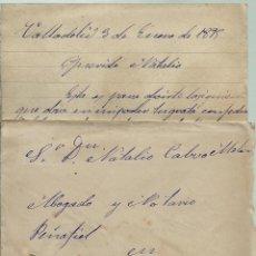 Sellos: CARTA CON TEXTO CIRCULADA EL 3 - 1 - 1895 CON UN 15 CTMOS ALFONSO XIII EL PELON. Lote 52008708