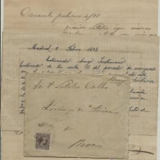 Sellos: CARTA CON TEXTO CIRCULADA EL 4 - 2 - 1898 CON UN 15 CTMOS ALFONSO XIII EL PELON. Lote 52009027