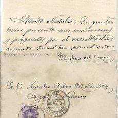 Sellos: CARTA CON TEXTO CIRCULADA EL 8 - 6 - 1906 CON UN 15 CTMOS ALFONSO XIII EL CADETE. Lote 52140747