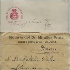 Sellos: CARTA CON TEXTO CIRCULADA EL 14 - 6 - 1898 CON UN 15 CTMOS ALFONSO XIII EL PELON. Lote 52141021
