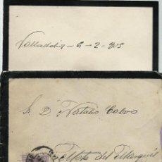 Sellos: CARTA DE LUTO CON TEXTO CIRCULADA EL 6 - 2 - 1905 CON UN 15 CTMOS ALFONSO XIII EL CADETE. Lote 52141346