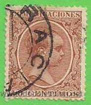 EDIFIL 223. ALFONSO XIII - TIPO PELÓN. (1889-1901). (Sellos - España - Alfonso XIII de 1.886 a 1.931 - Usados)