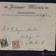 Sellos: AMBULANTE ASC1899 MADRID FUENTES A CIUDAD RODRIGO JERONIMO MORETON. Lote 52423991