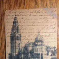 Sellos: ESTUPENDA TARJETA POSTAL FECHADA EN 1905. CATEDRAL DE TOLEDO. ALFONSO XIII. Lote 52667861