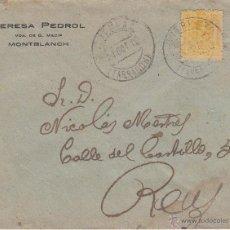 Sellos: SOBRE DE TERESA PEDROL DE MONTBLANCH - MONTBLANC . Lote 53393569