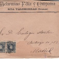 Sellos: SOBRE CON CARTA BELARMINO FELIZ DE RUA VALDEORRAS-ORENSE-. Lote 53423810