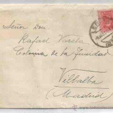 Sellos: SOBRE Y CARTA. VILLALBA, MADRID. LÉRIDA. 8 DE AGOSTO DE 1928.. Lote 53513059