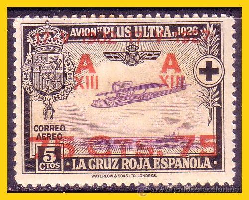 1926 PRO CRUZ ROJA ESPAÑOLA, AÉREOS,SOBRECARGADOS EDIFIL Nº 388 * * (Sellos - España - Alfonso XIII de 1.886 a 1.931 - Nuevos)