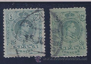 EDIFIL 268 ALFONSO XIII. TIPO MEDALLÓN. 1909-1922. (VARIEDAD...TAMAÑO Y COLOR) (Sellos - España - Alfonso XIII de 1.886 a 1.931 - Usados)