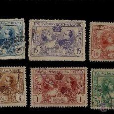 Sellos: EXPOSICION DE INDUSTRIAS DE MADRID - 1907 - EDIFIL SR. 1 AL 6. Lote 53853245