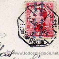 Sellos: AMBULANTE BILBAO SAN SEBASTIAN SOBRE TARJETA POSTAL DE CORRIDA DE TOROS.. Lote 53956123