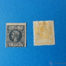Sellos: DOS SELLOS DE ALFONSO XIII - GUINEA - AÑOS 1902 - 1922. Lote 54039839