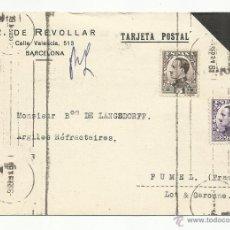 Sellos: CIRCULADA 1931 DE BARCELONA A FUMEL FRANCIA VER FOTO. Lote 54168488
