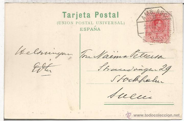 GRANADA TP CON MAT AMBULANTE SELLO ALFONSO XIII MEDALLON (Sellos - España - Alfonso XIII de 1.886 a 1.931 - Cartas)