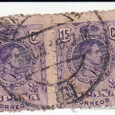 Sellos: EDIFIL 270. PAREJA USADA. ALFONSO XIII 1909-1922.. Lote 54433933