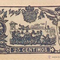 Sellos: SPAIN ESPAÑA 25 CTS 1905 MANTEO DE SANCHO PANZA SELLO STAMP NUEVO. Lote 98650331