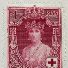 Sellos: SPAIN ESPAÑA 4 PESETAS 1926 CRUZ ROJA VICTORIA EUGENIA ESCASO SELLO STAMP NUEVO. Lote 54930480