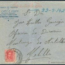 Sellos: SOBRE CIRCULADO DE TARRASA A MELILLA......1926. Lote 55003087