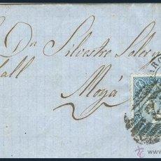 Sellos: CARTA CIRCULADA DE BARCELONA A MOYÁ.....1899.....CON SELLO ISABEL II PARRILLADA CON CIFRA Nº 2. Lote 55016614