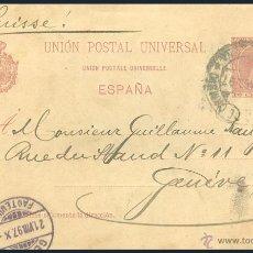 Sellos: ENTERO POSTAL CIRCULADO.....ALFONSO XIII......1899. Lote 55017190