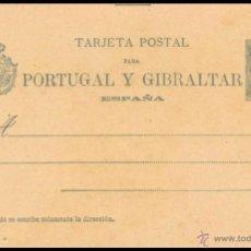 Sellos: ENTERO POSTAL NO CIRCULADO......PARA .PORTUGAL Y GIBRALTAR....DE 1893. Lote 55044180