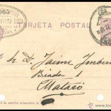 Sellos: ENTERO POSTAL CIRCULADO.....BARCELONA - MATARÓ........1922. Lote 55055905