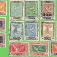 Sellos: EDIFIL 517-530 QUINTA DE GOYA EN LA EXPOSICIÓN DE SEVILLA (1930).* NUEVOS CON SEÑAL - SERIE COMPLETA. Lote 55332118