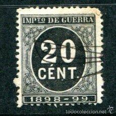 Sellos: EDIFIL 239. 20 CTS IMPUESTO DE GUERRA. AÑO1898.. Lote 55785090