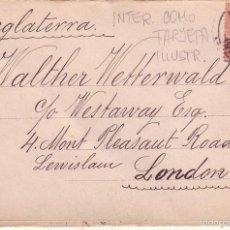 HP3-29-Postal Ilustrada.Triptico Desplegable BARCELONA -LONDRES 1908