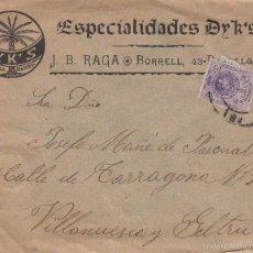 Sellos: SOBRE DE DYK'S DE J.B.RAGA DE BARCELONA. Lote 56019337