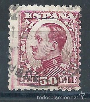 R9/ ESPAÑA 1930/31, EDF. 496, ALFONSO XIII, MATASELLADO, CAT. 3,35€ (Sellos - España - Alfonso XIII de 1.886 a 1.931 - Usados)