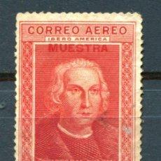 Sellos: EDIFIL 561. 25 CTS COLÓN AÉREO PARA IBEROAMÉRICA, SOBRECARGA MUESTRA. NUEVO SIN GOMA. Lote 56698797