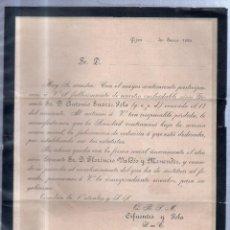 Sellos: GIJON, 1895. CIRCULAR PARTICIPANDO FALLECIMIENTO DE DON ANTONIO SUAREZ POLA. CON SELLO. VER. Lote 56770535
