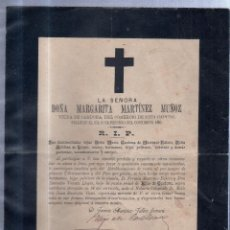 Sellos: CUENCA. 1894. ESQUELA DE DOÑA MARGARITA MARTINEZ MUÑOZ. CON SELLO. VER. Lote 56770863