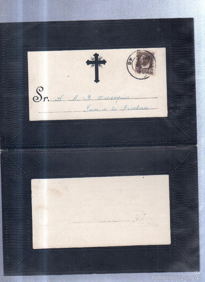 Sellos: VALLADOLDID, 1935. ESQUELA DE DON EUDOSIO LOPEZ CIVERA. CON SELLO. VER - Foto 2 - 56773528