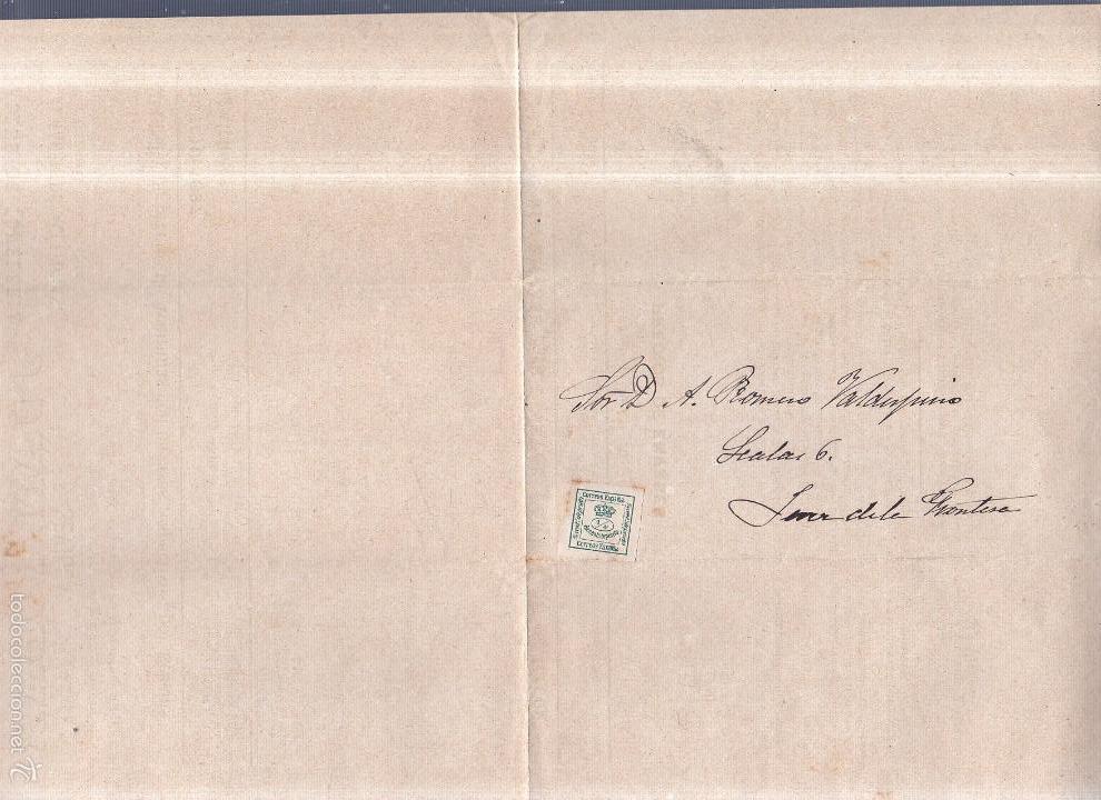 Sellos: CIRCULAR PUBLICITARIA CON LISTA DE PRECIOS. JUAN TOBAR. SEVILLA. ACEITUNAS. 1897. CON SELLO. VER - Foto 2 - 56775541